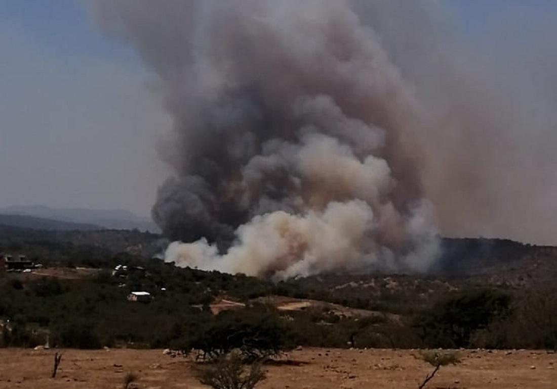 [VIDEO] Nuevo incendio forestal afecta a Santa Rosa de Colmo en Quillota - El Observador